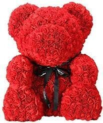 Red Forever Rose Teddy Bear