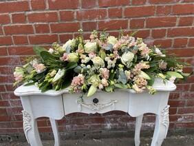 Coffin Tribute  - Peach and White